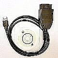 OBDII 19.6 cable English+German language